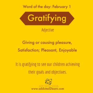 Gratifying: Giving Satisfaction