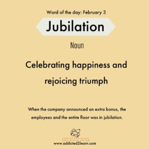 Jubilation: Happy and Rejoicing
