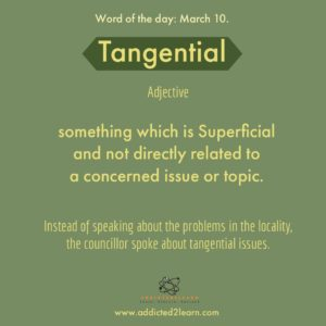 Tangential: Superficial