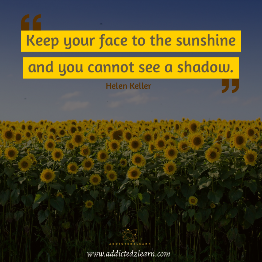 Thought of the day by Helen Keller.