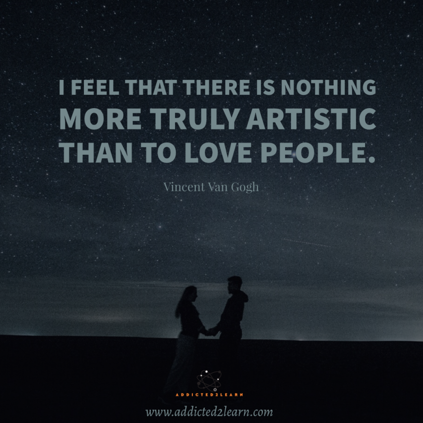 Positive quote of the day by Vincent Van Gogh.