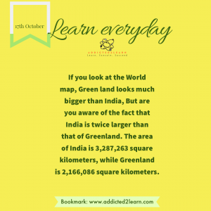 Interesting fact about Greenland and India.