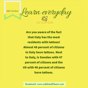 Fact of the day about tattoos.