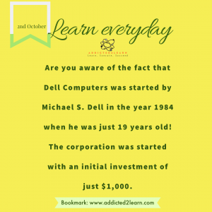 Interesting fact about Dell Computers.