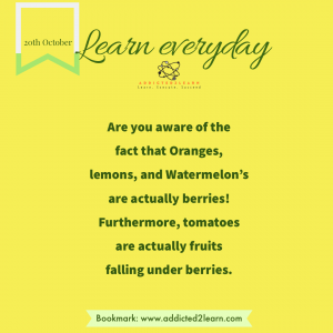Interesting Fact about berries.
