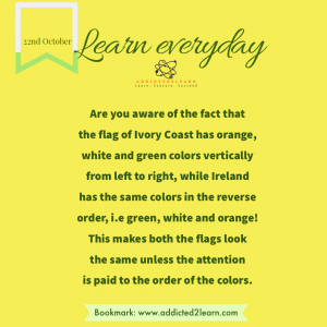 Interesting fact about flags of Ivory Coast and Ireland.