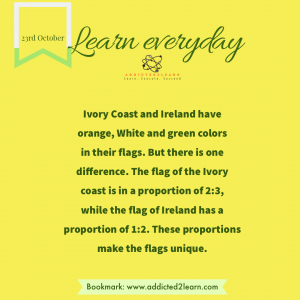 Interesting Fact about the flags of Ivory Coast and Ireland.