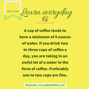 Interesting fact about Coffee.
