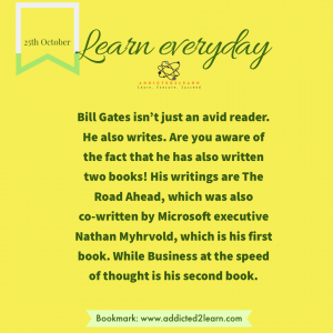 Interesting fact about Bill Gates's writing.