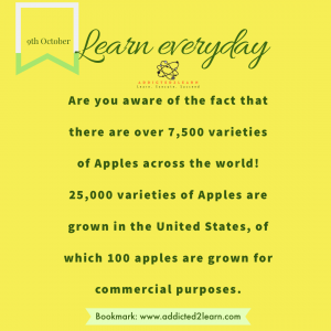 Interesting fact about apples.