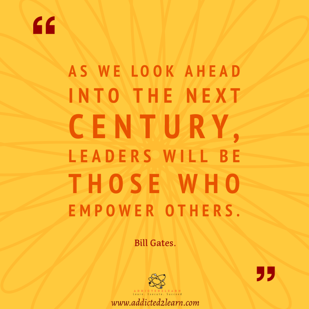 Quote of the day by Bill Gates.