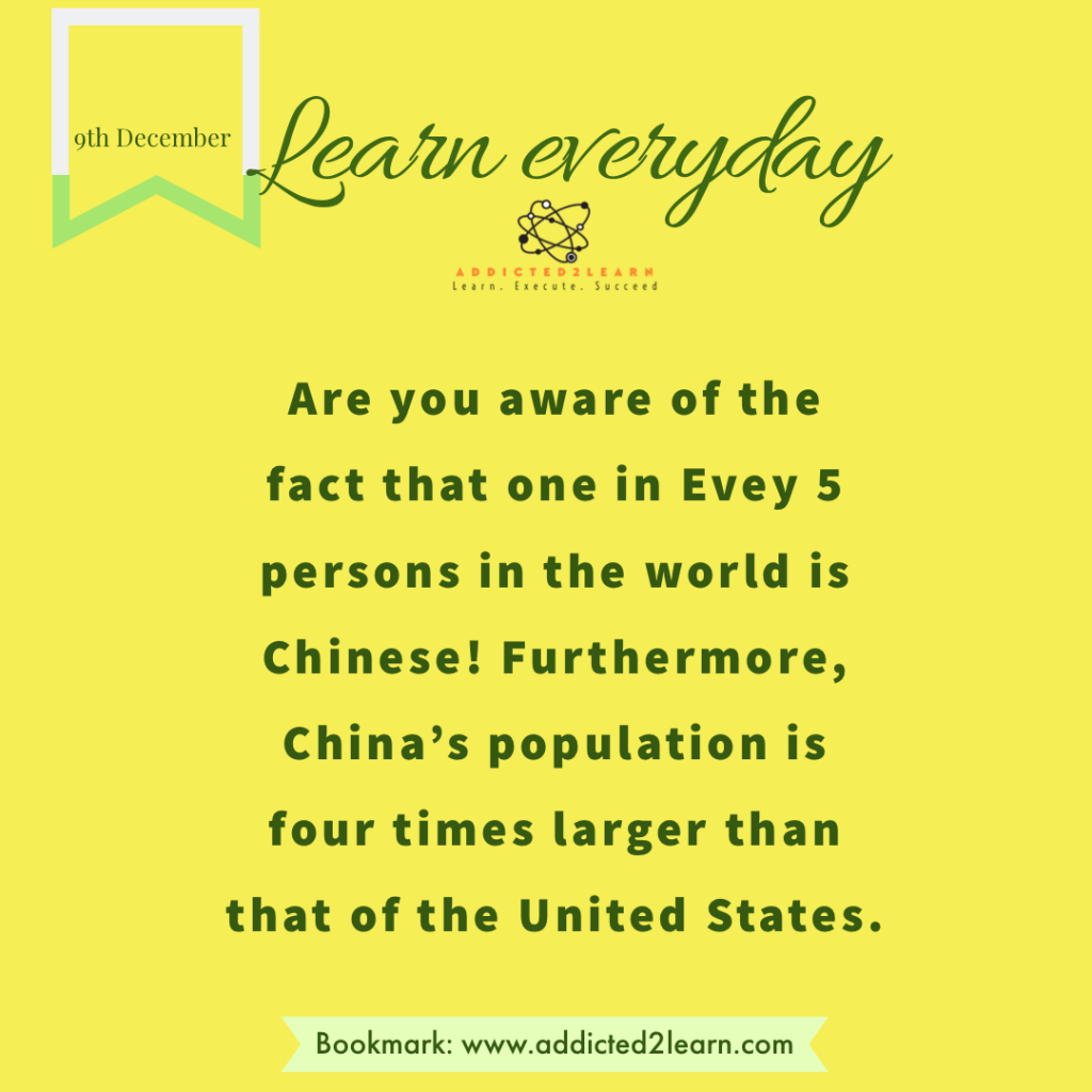 Interesting fact about China.