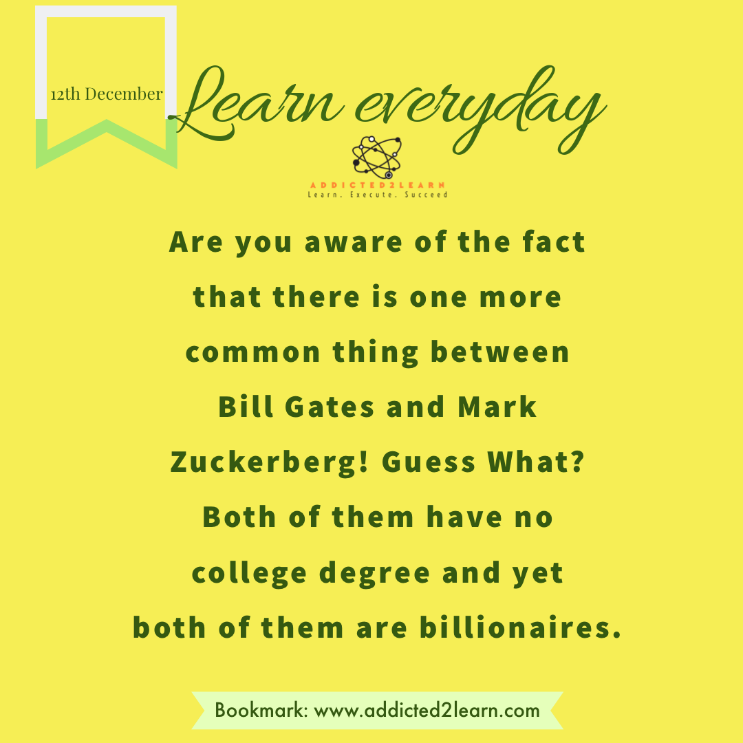 Interesting Facts December Series: Interesting fact about Bill Gates and Mark Zuckerberg.