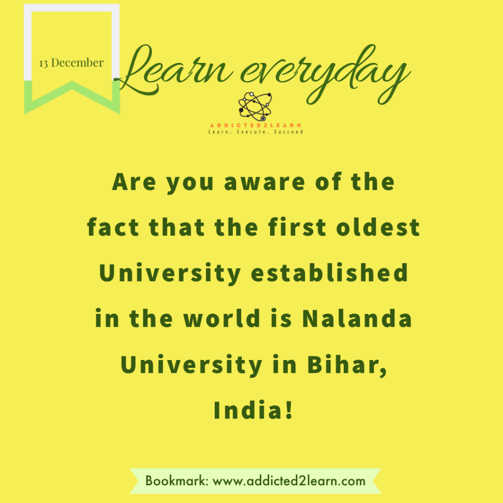 Interesting fact about the world's oldest University