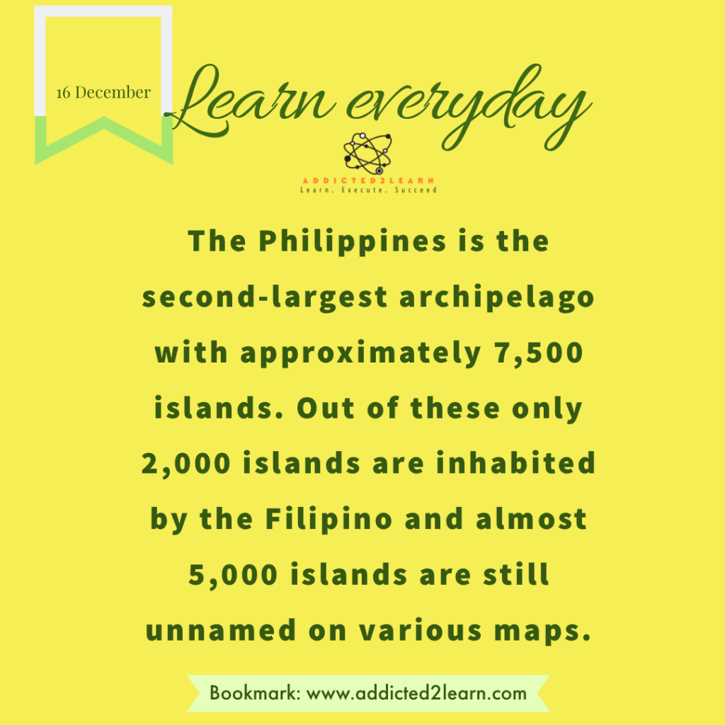 Interesting Facts December Series: Interesting fact about the Philippines.