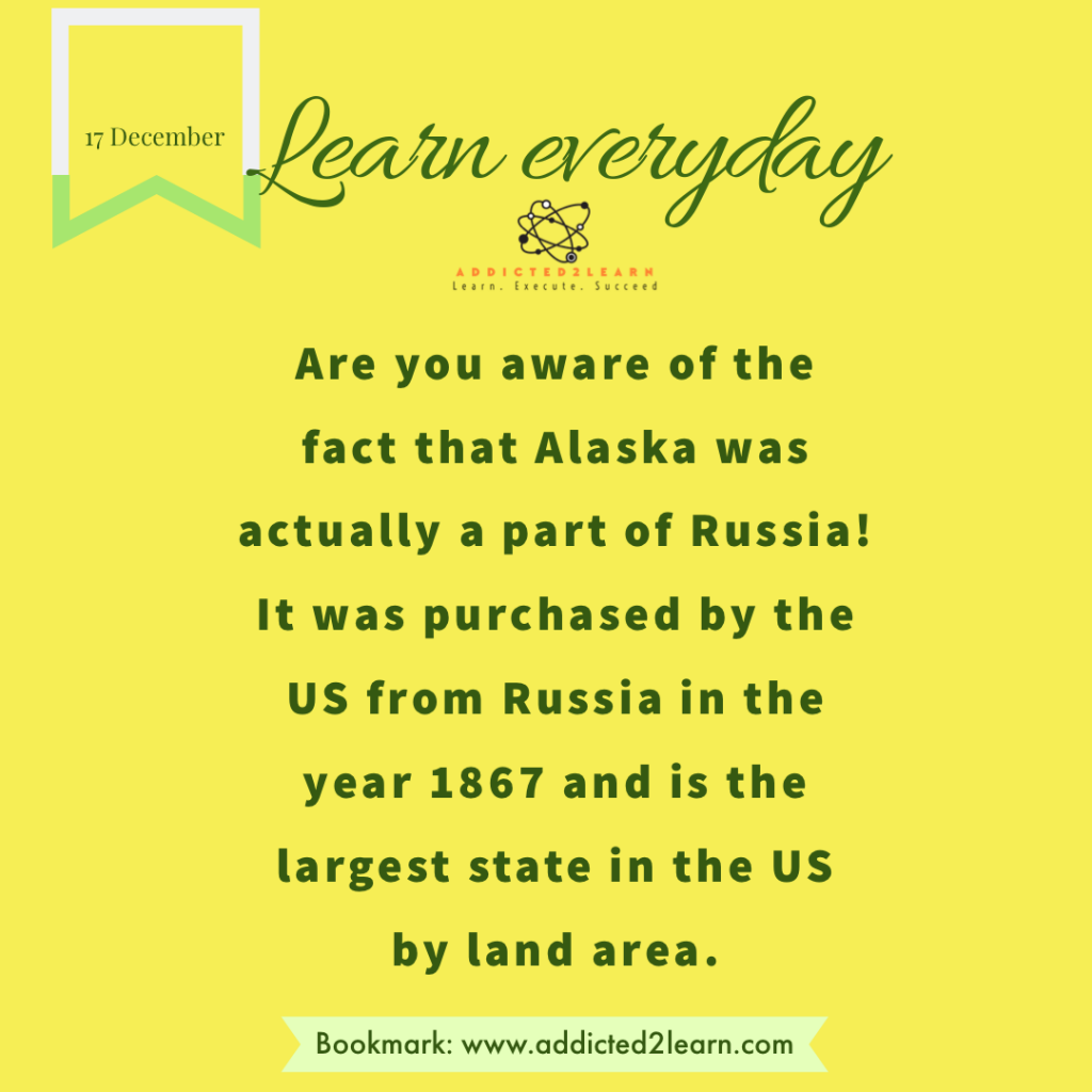 Interesting fact about Alaska, USA.
