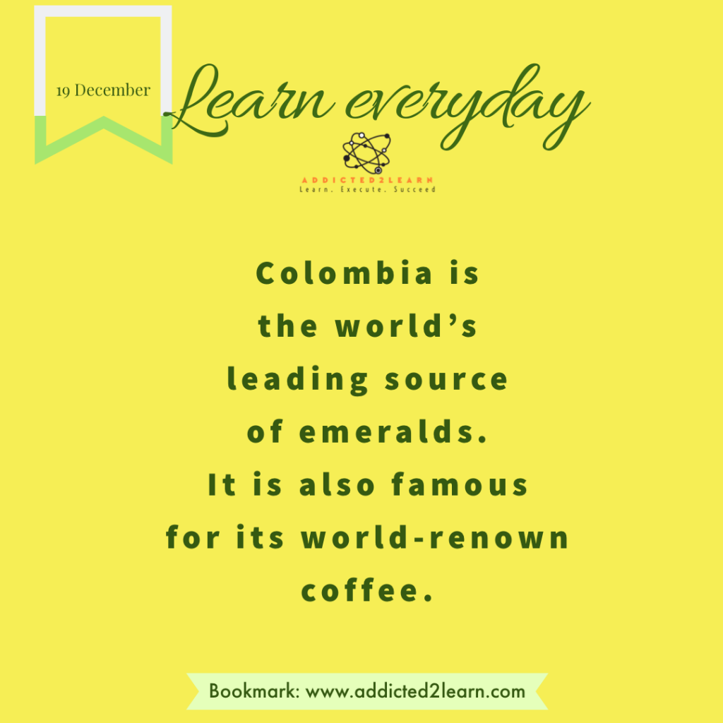Interesting fact about Colombia.