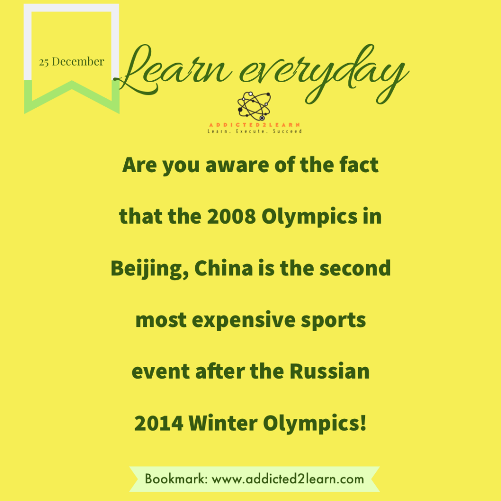 Interesting fact about Olympics