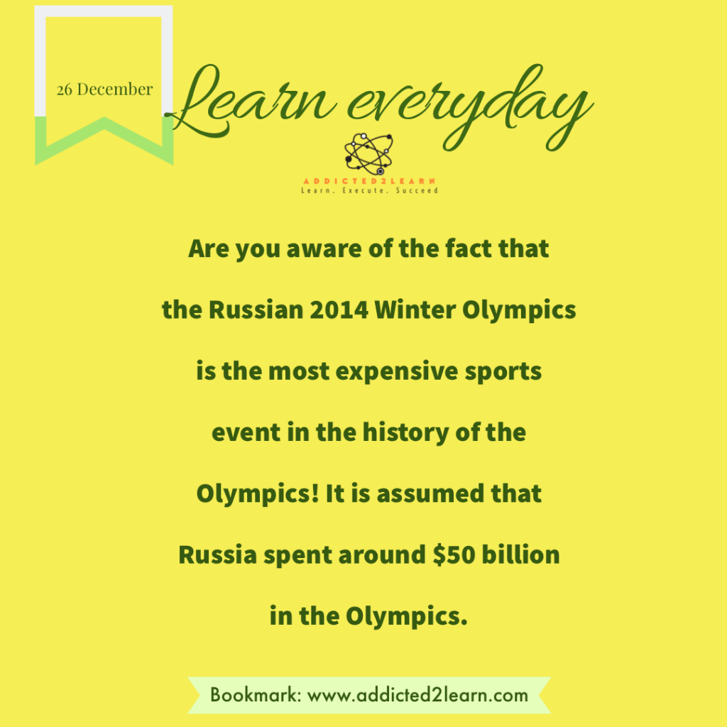 Interesting Facts December Series: Interesting Fact about Olympics.