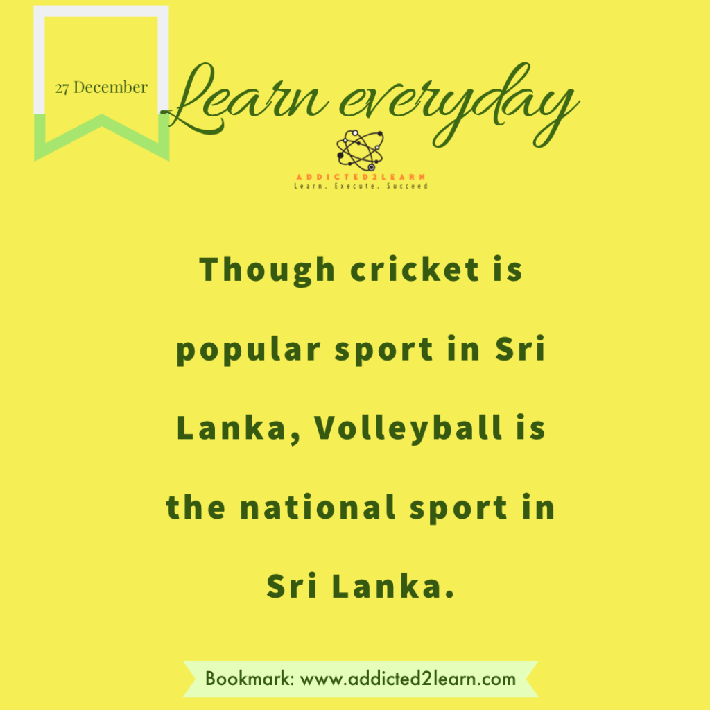 Interesting fact about Sri Lanka