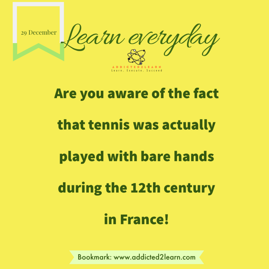 Interesting fact about tennis.