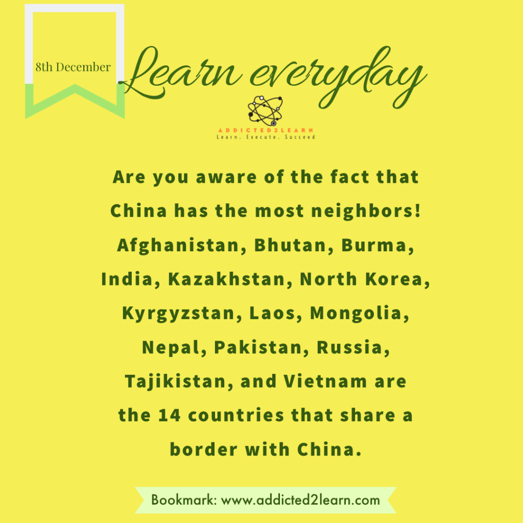 Interesting Facts December Series: Interesting fact about China.