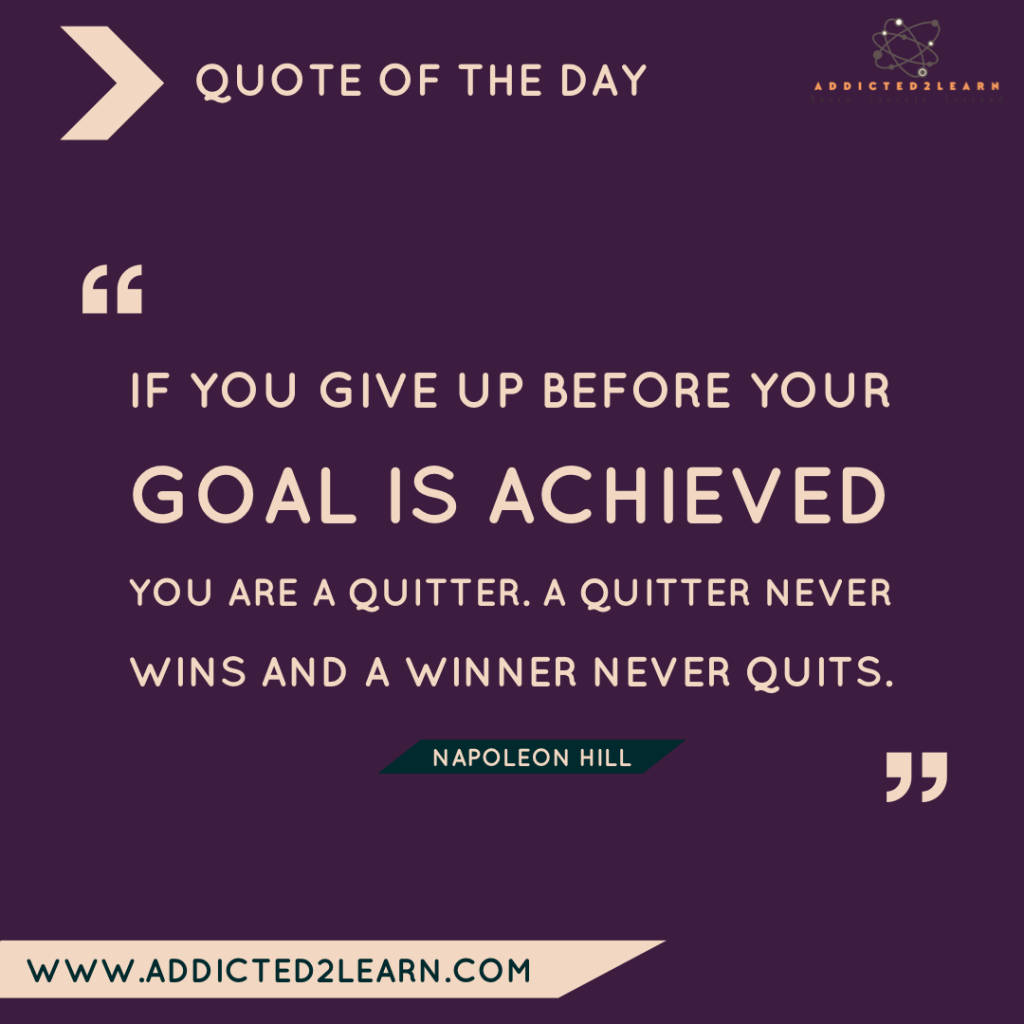 Quote of the day by Napoleon Hill.