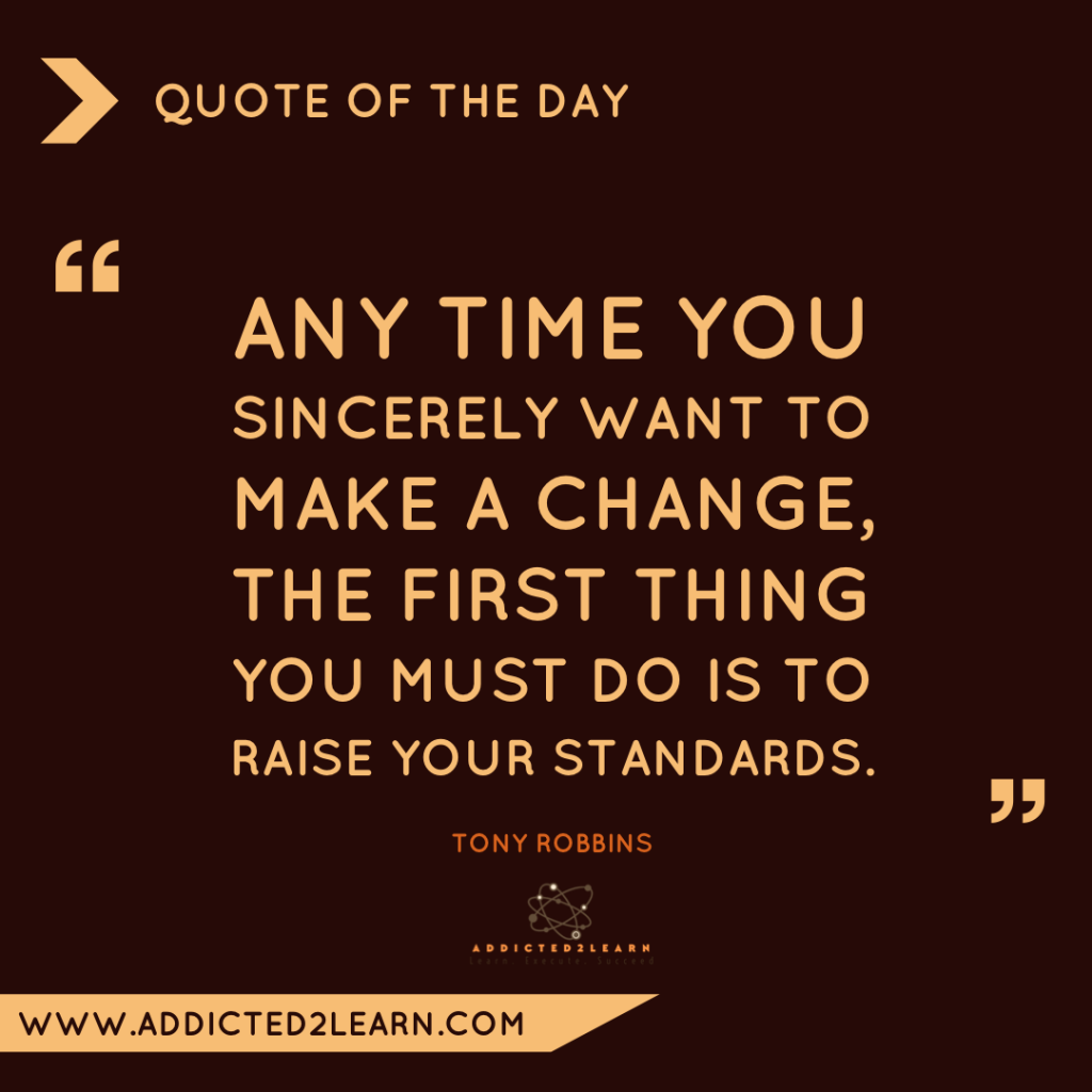 Quote of the day December Series: Quote by Tony Robbins.
