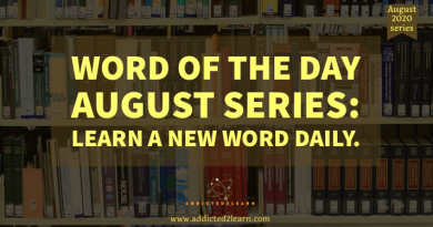 Word of the day August series