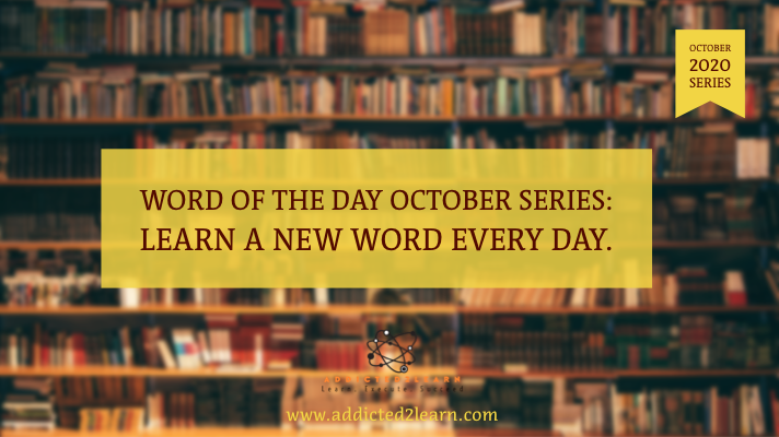 Word of the day October series
